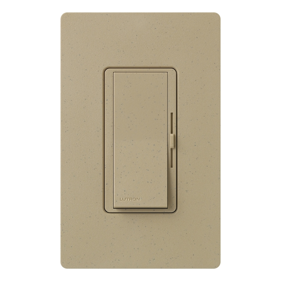 Lutron Diva 800-Watt Single Pole Mocha Stone Indoor Dimmer