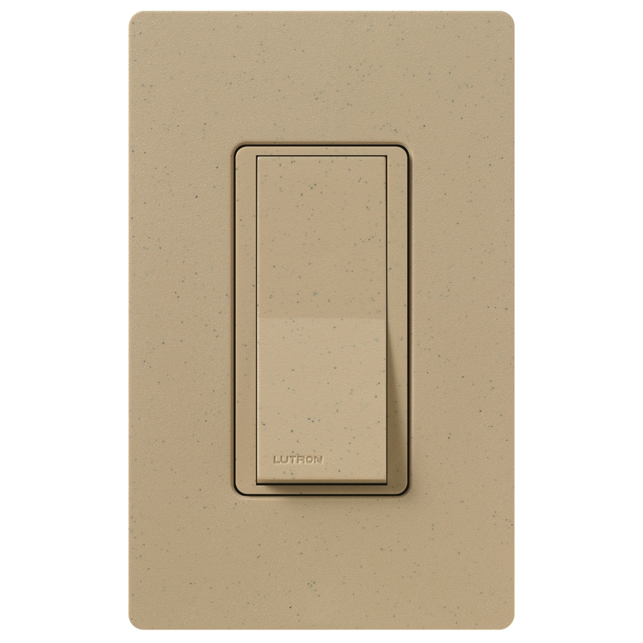 Lutron Claro 15-Amp 4-Way Mocha Stone Indoor Push Light Switch