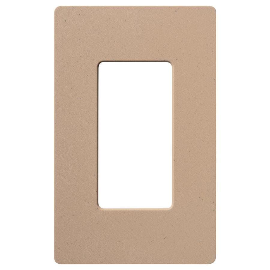 Lutron Claro 1-Gang Mocha Stone Single Decorator Wall Plate