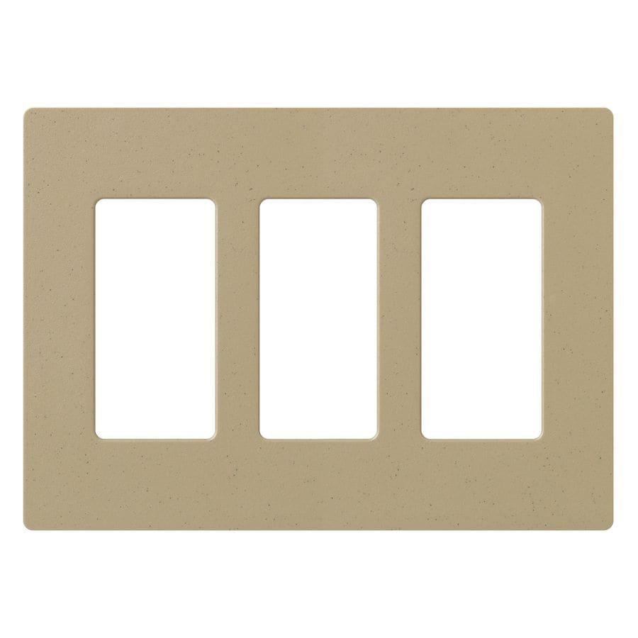 Lutron Claro 3-Gang Mocha Stone Triple Decorator Wall Plate