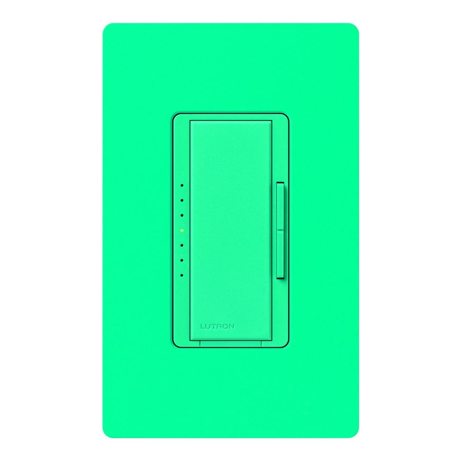 Lutron Maestro 600-Watt Single Pole Turquoise Indoor Touch Dimmer