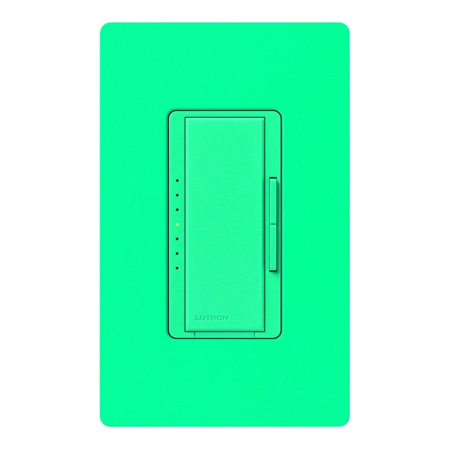 Lutron Maestro 600-Watt Single Pole Turquoise Indoor Touch Dimmer
