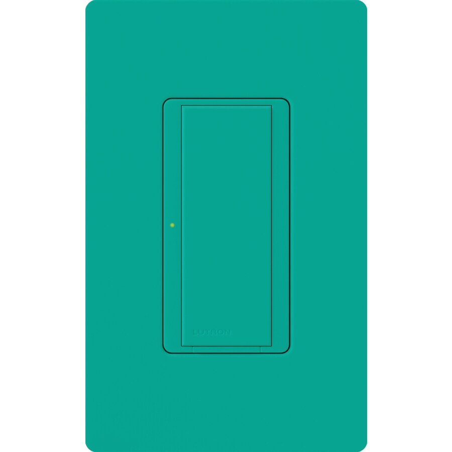 Lutron Maestro 8-amp Single Pole 3-way Turquoise Push Indoor Light Switch