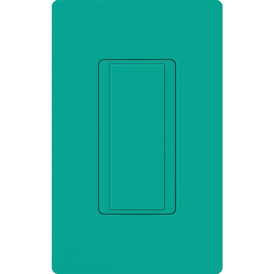 Lutron Maestro 8-Amp Single Pole Turquoise Push Indoor Light Switch