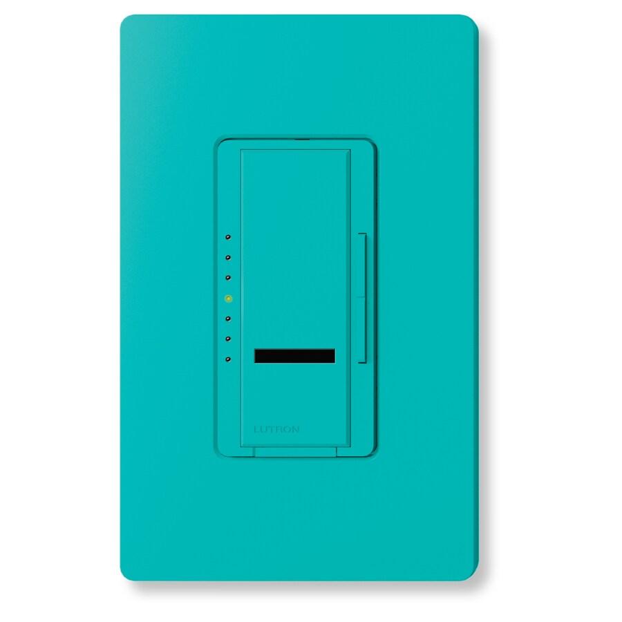 Lutron Maestro IR 1,000-Watt Single Pole Wireless Turquoise Indoor Remote Control Dimmer