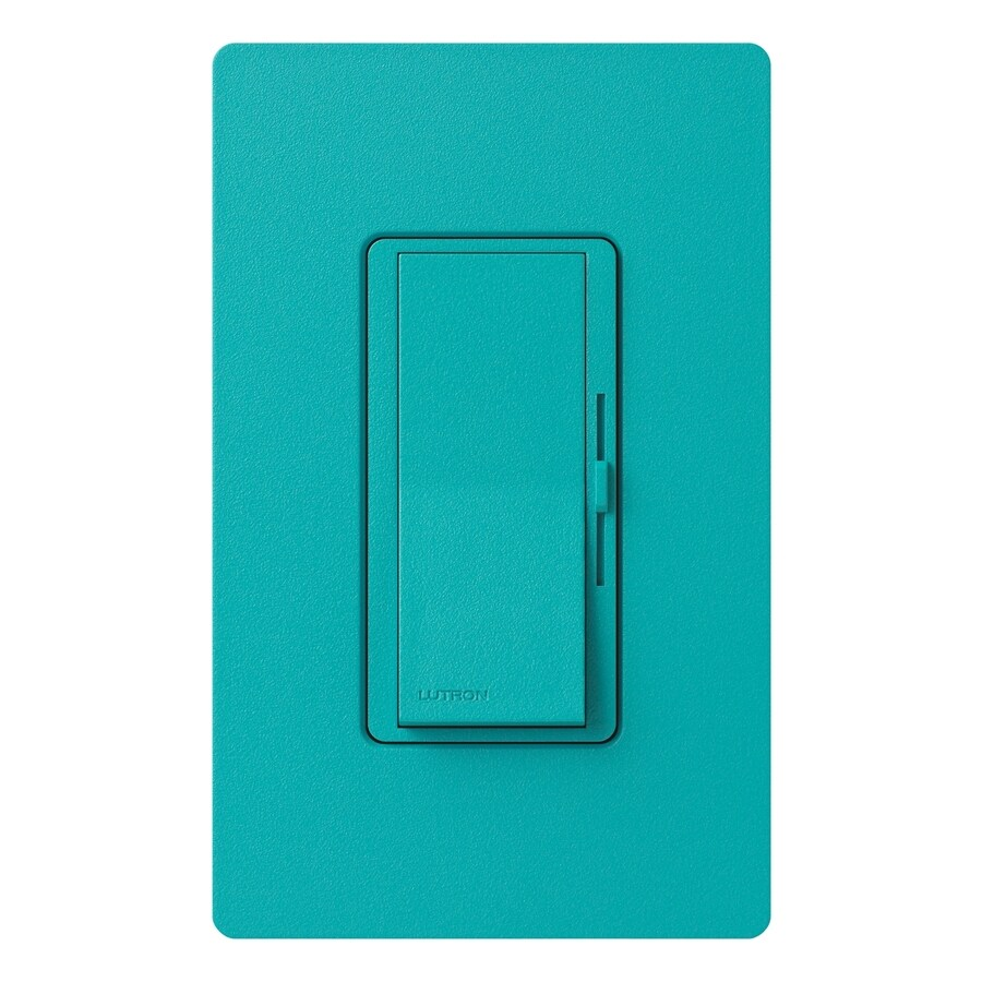 Lutron Diva 1,000-Watt Single Pole Turquoise Indoor Dimmer