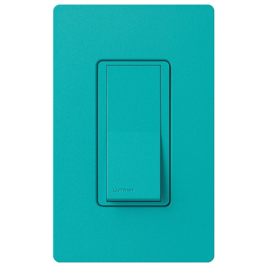 Lutron Claro 15-Amp Single Pole Turquoise Push Indoor Light Switch