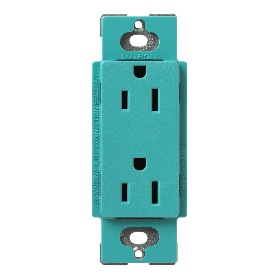 Lutron Claro 15-Amp 120/125-Volt Turquoise Indoor Decorator Wall Outlet