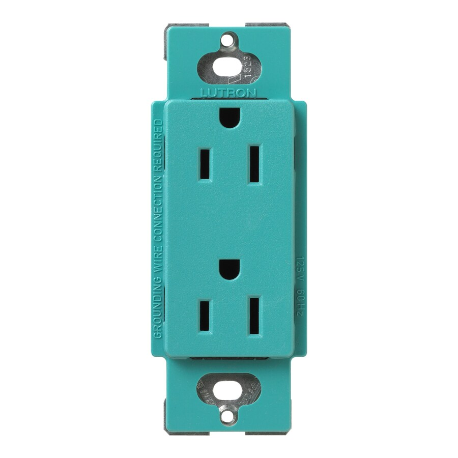Lutron Claro 20-Amp 120/125-Volt Turquoise Indoor Decorator Wall Outlet