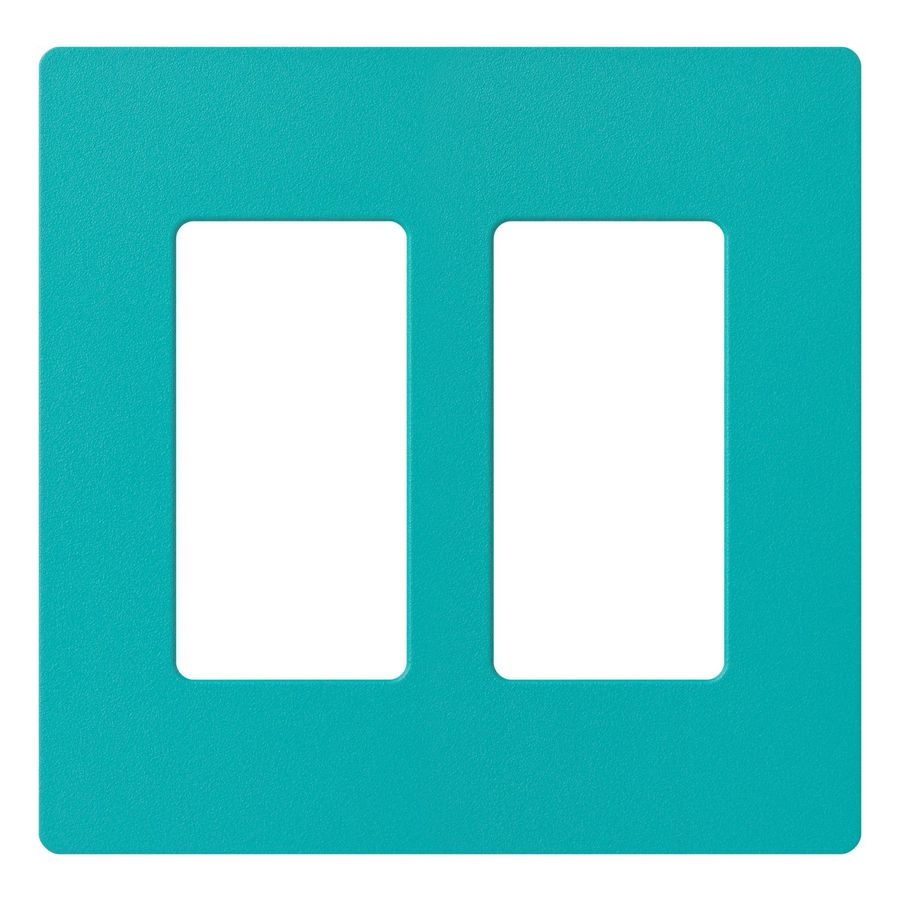 Lutron Claro 2-Gang Turquoise Double Decorator Wall Plate