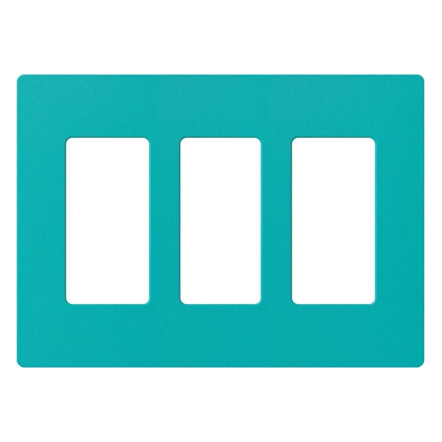 Lutron Claro 3-Gang Turquoise Triple Decorator Wall Plate