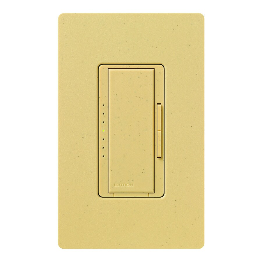 shop lutron maestro 600 watt single pole goldstone touch indoor dimmer at low. Black Bedroom Furniture Sets. Home Design Ideas