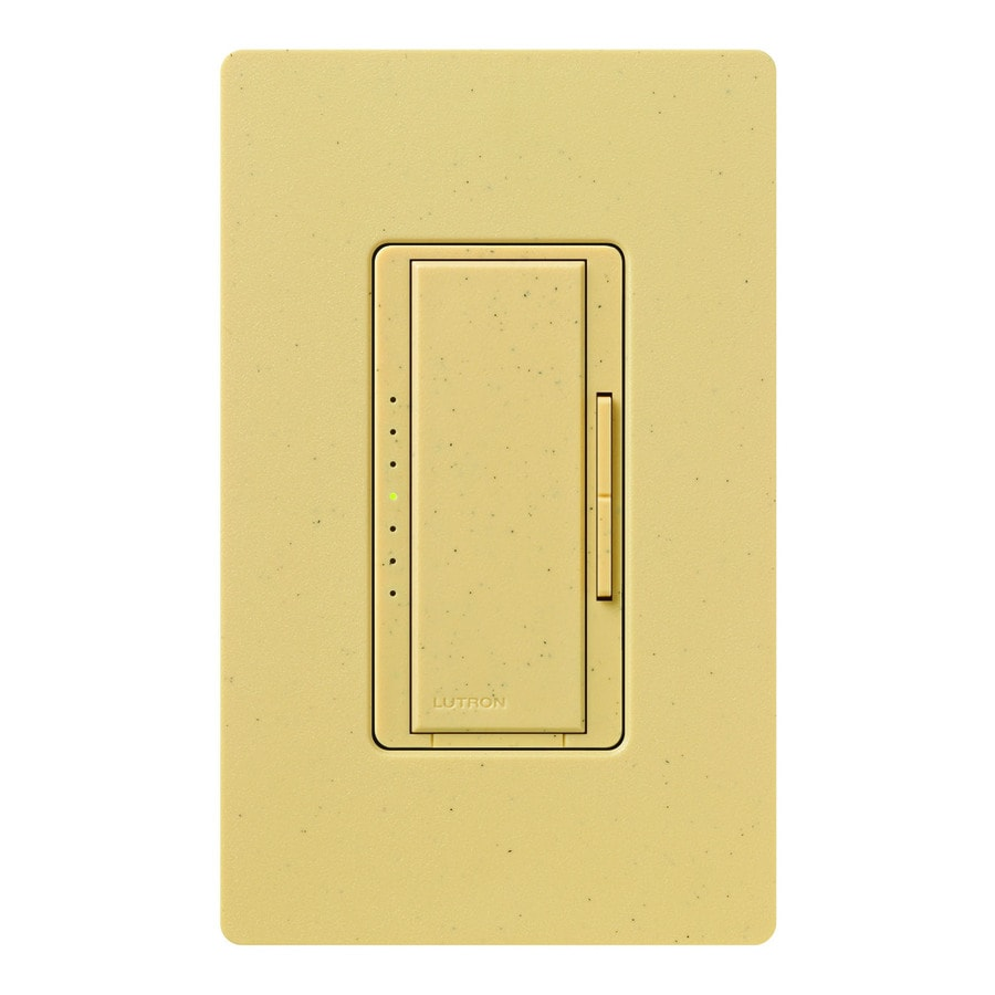 Lutron Maestro 800-watt Single Pole Goldstone Touch Indoor Dimmer