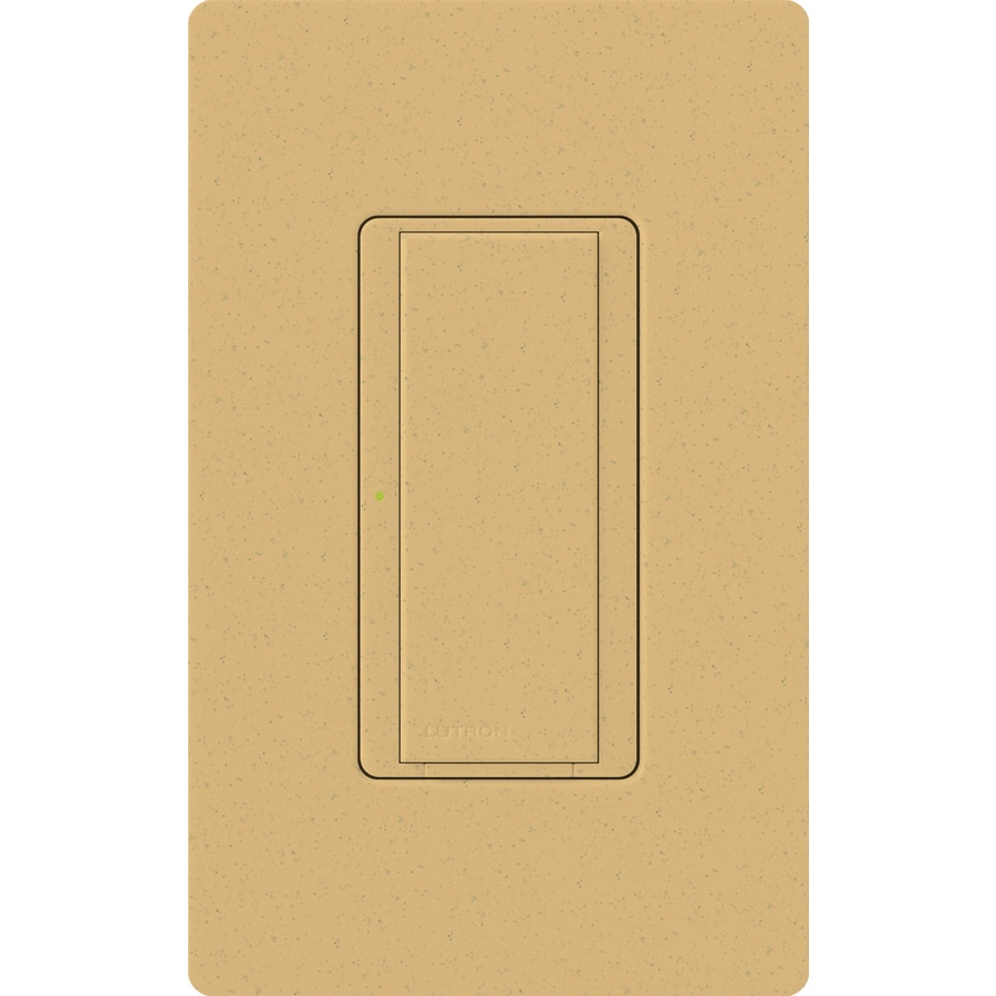 Lutron Maestro 8-Amp Single Pole 3-Way Goldstone Indoor Push Light Switch