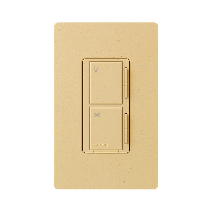 Lutron Maestro 300-Watt 3-Way/4-Way Goldstone Indoor Tap Combination Dimmer and Fan Control