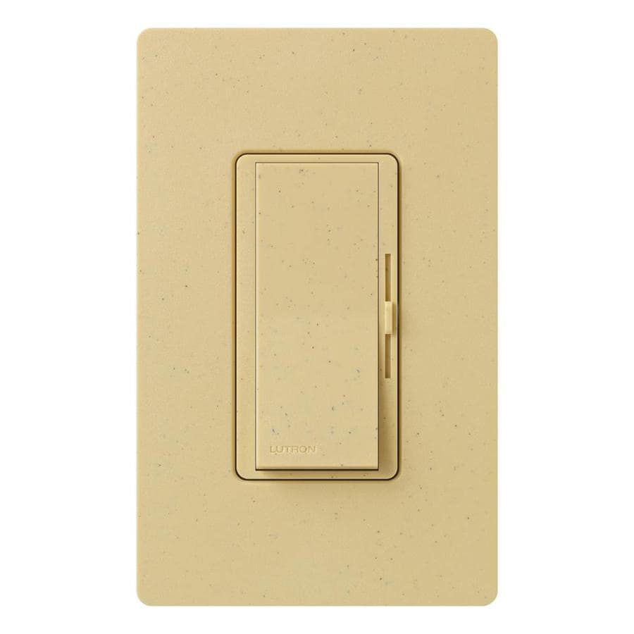 shop lutron diva 600 watt single pole 3 way goldstone indoor dimmer at. Black Bedroom Furniture Sets. Home Design Ideas