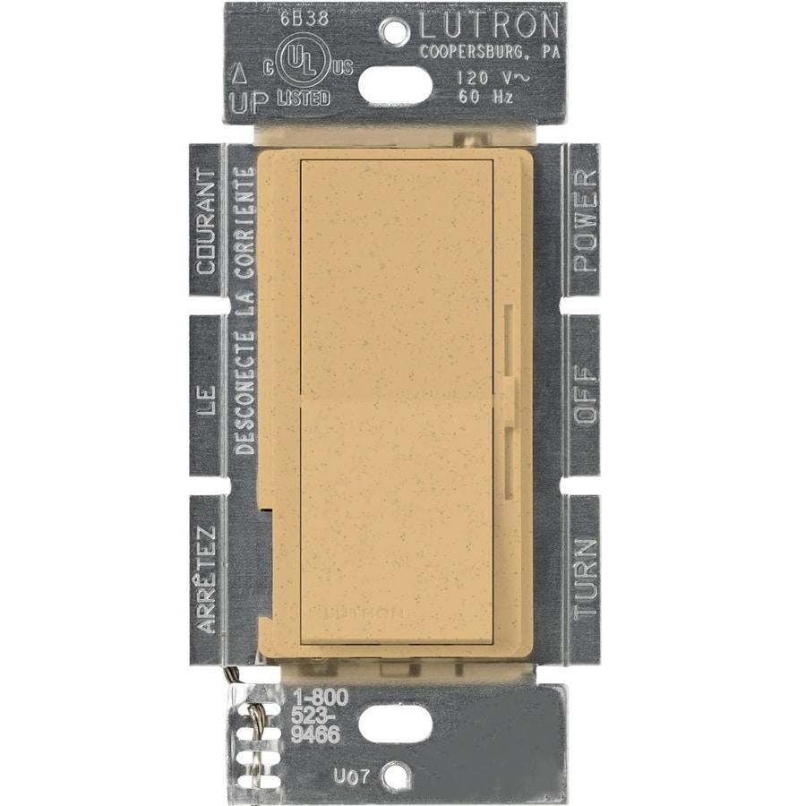 Lutron Diva 450-Watt Single Pole Goldstone Indoor Dimmer