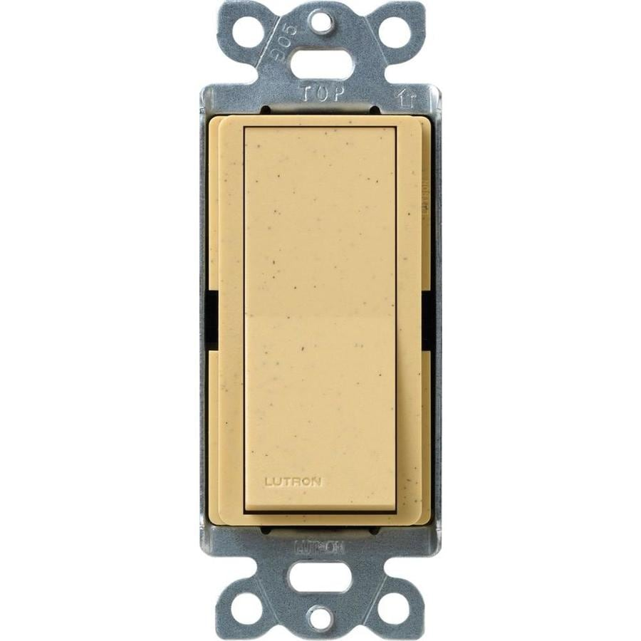 Lutron Claro 15-amp Single Pole Goldstone Push Indoor Light Switch