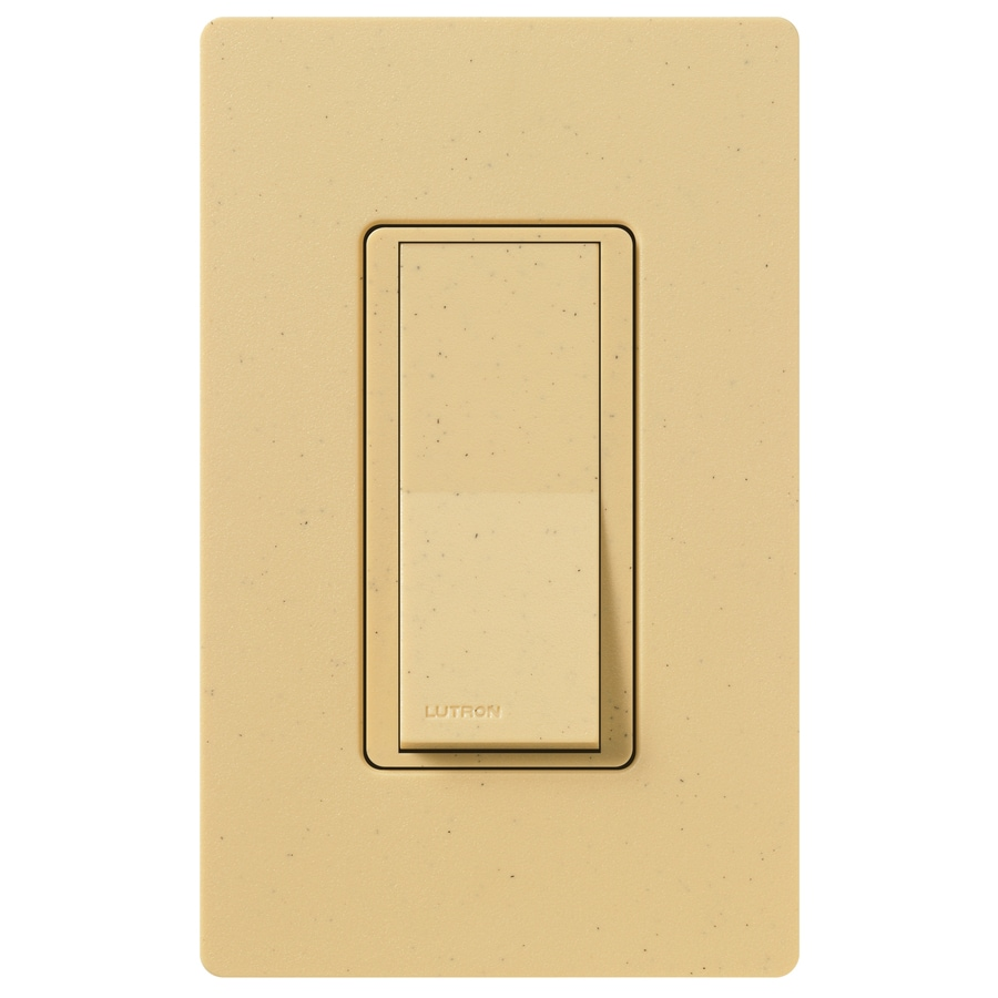 Lutron Claro 15-Amp Double Pole 3-Way Goldstone Indoor Push Light Switch