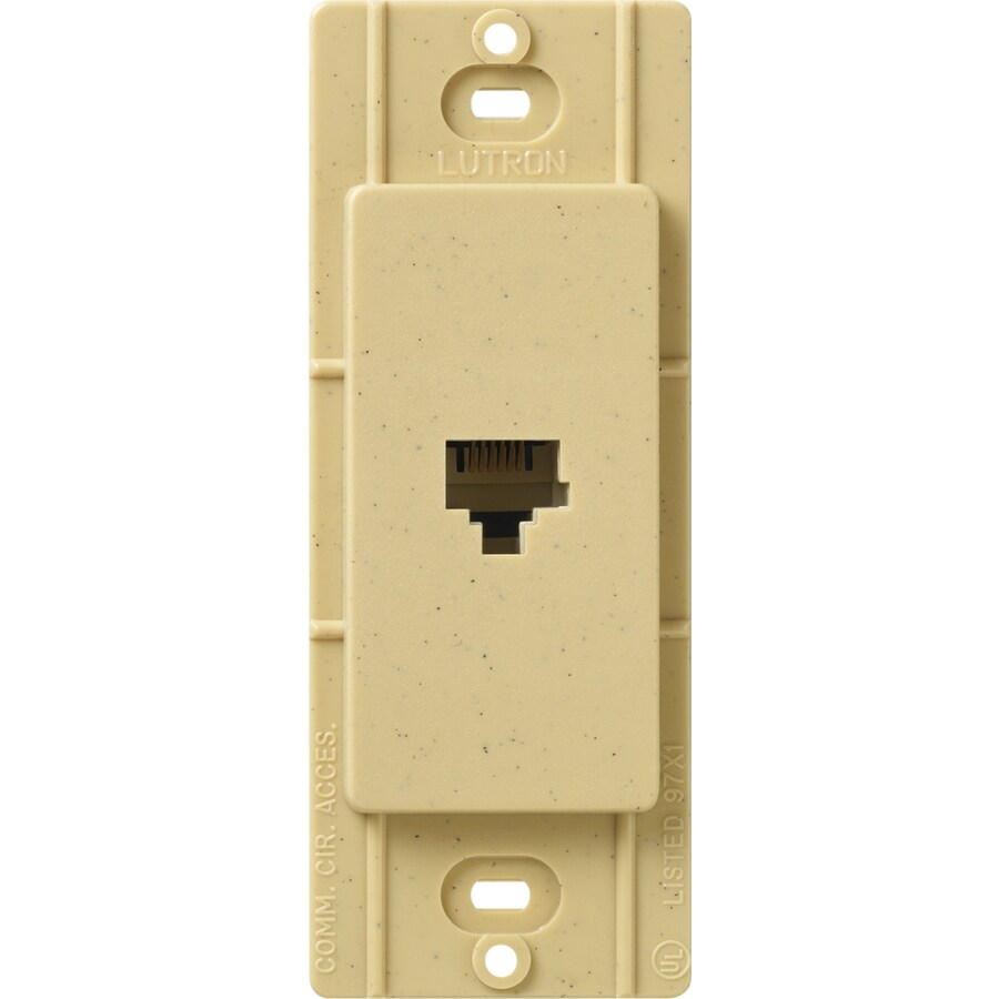 Lutron Claro Satin Color 1-Gang Goldstone Phone Wall Plate