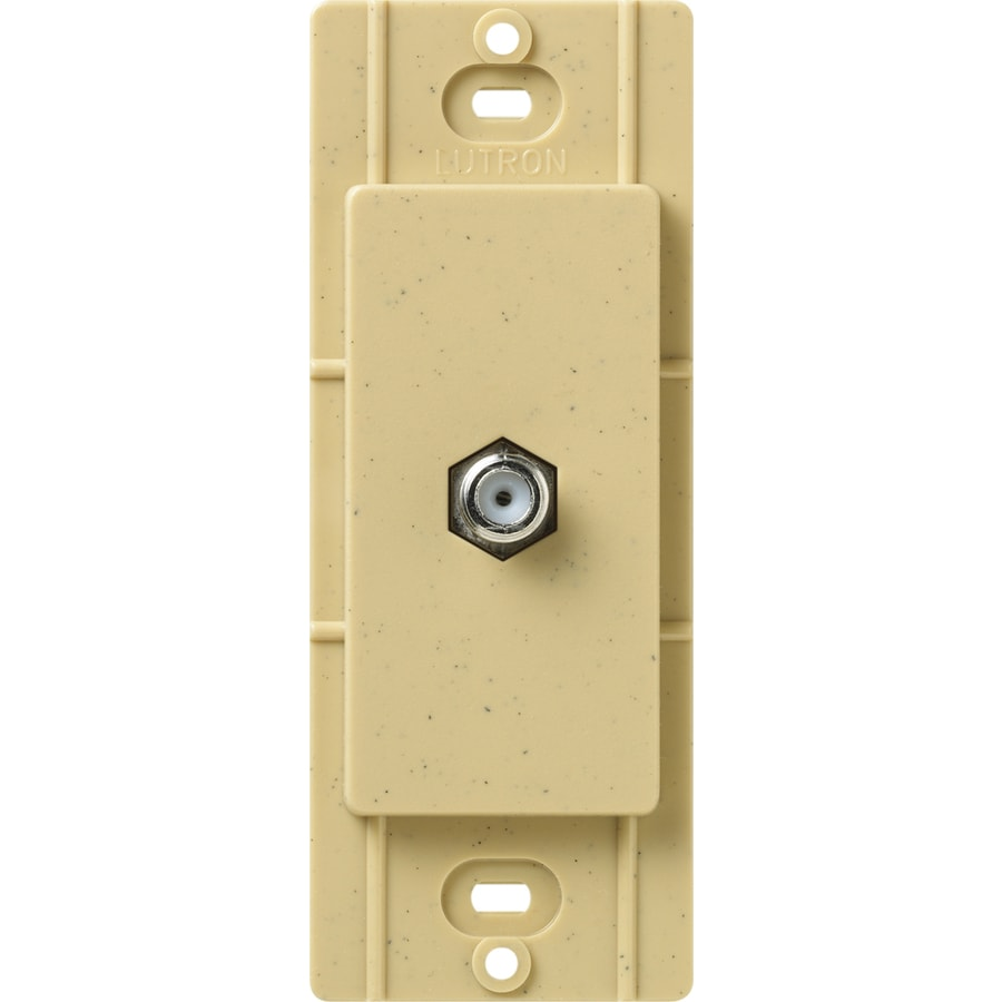 Lutron Claro Satin Color 1-Gang Goldstone Coaxial Wall Plate