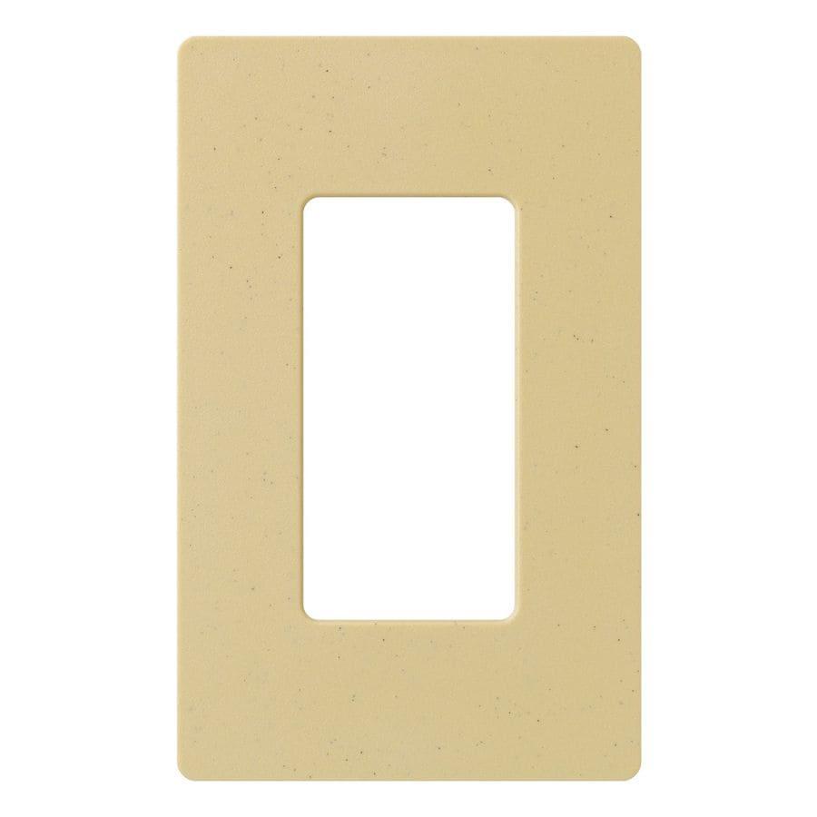 Lutron Claro 1-Gang Goldstone Single Decorator Wall Plate