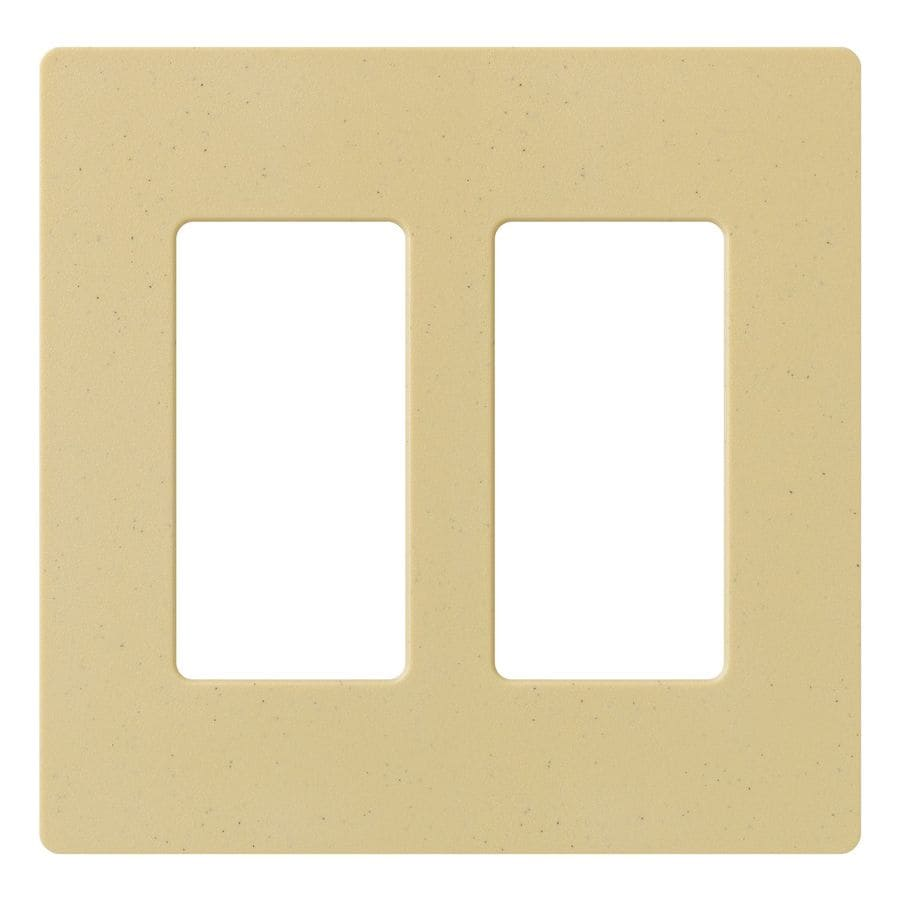 Lutron Claro 2-Gang Goldstone Double Decorator Wall Plate