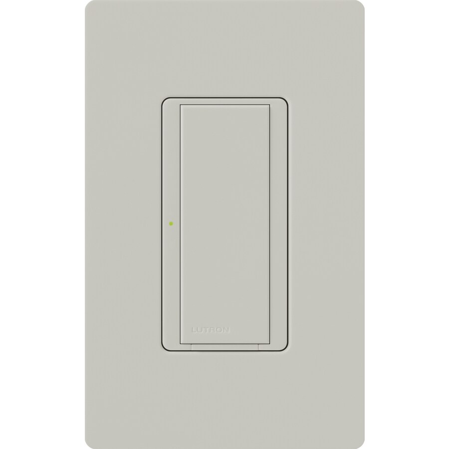 Lutron Maestro 8-amp Single Pole 3-way Palladium Push Indoor Light Switch