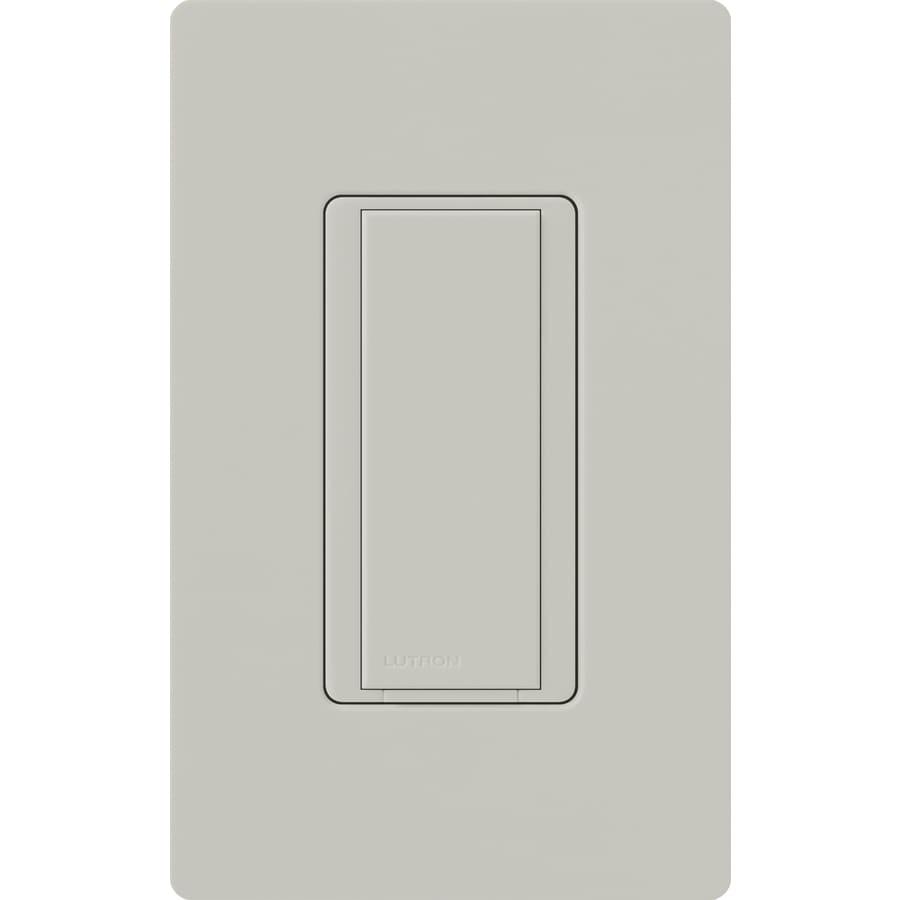 Lutron Maestro 8-amp Single Pole Palladium Push Indoor Light Switch