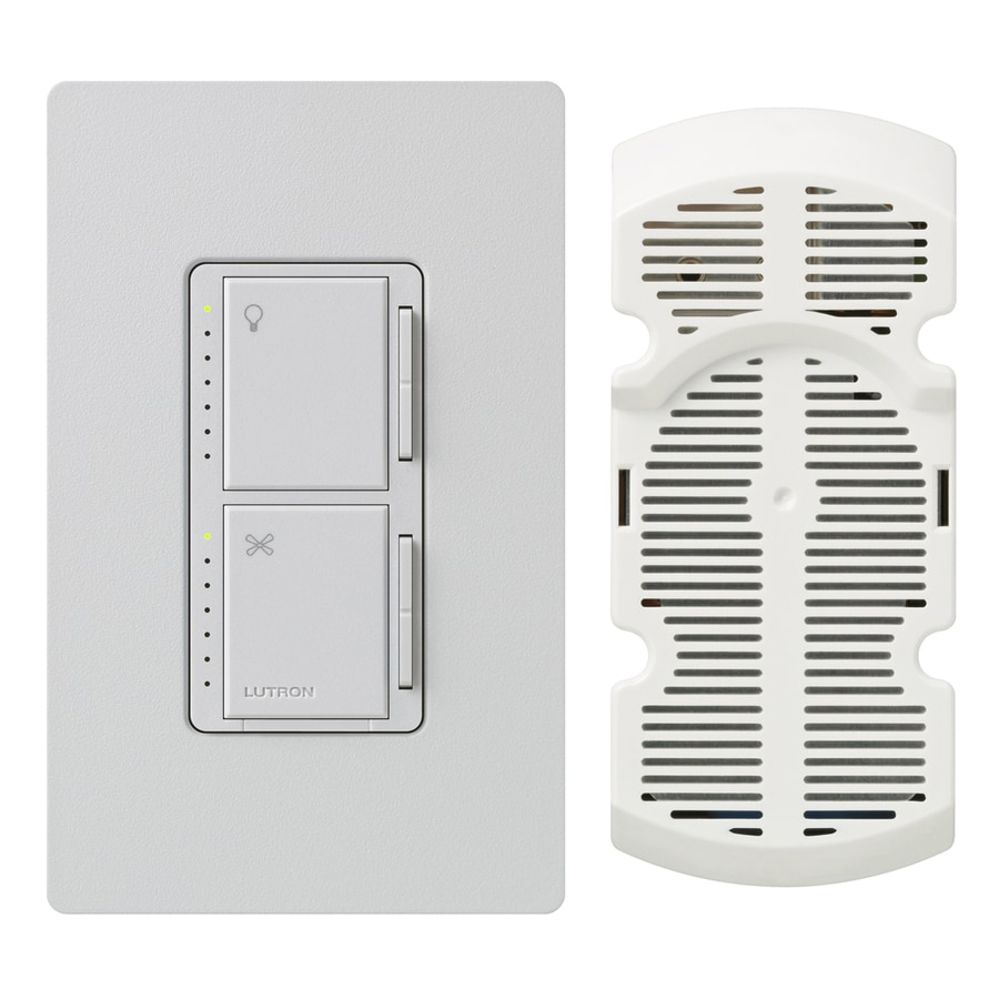 Lutron Maestro 300-Watt Single Pole 3-Way Palladium Indoor Touch Combination Dimmer and Fan Control