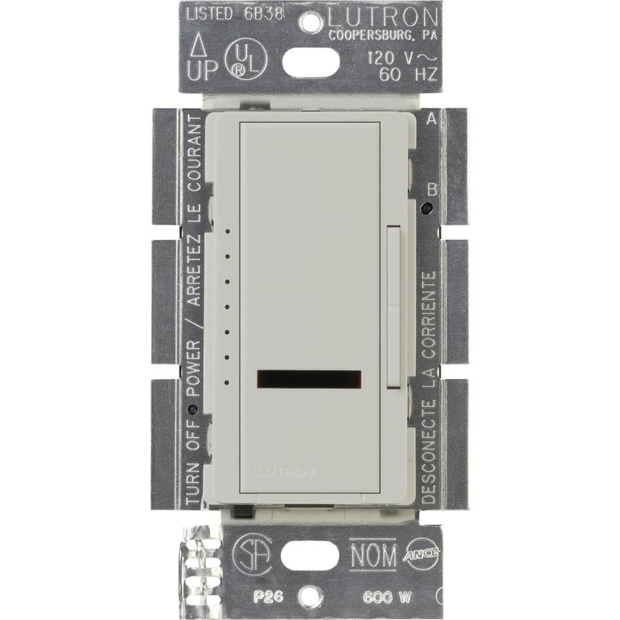 Lutron Maestro IR 600-Watt Single Pole Wireless Palladium Indoor Remote Control Dimmer