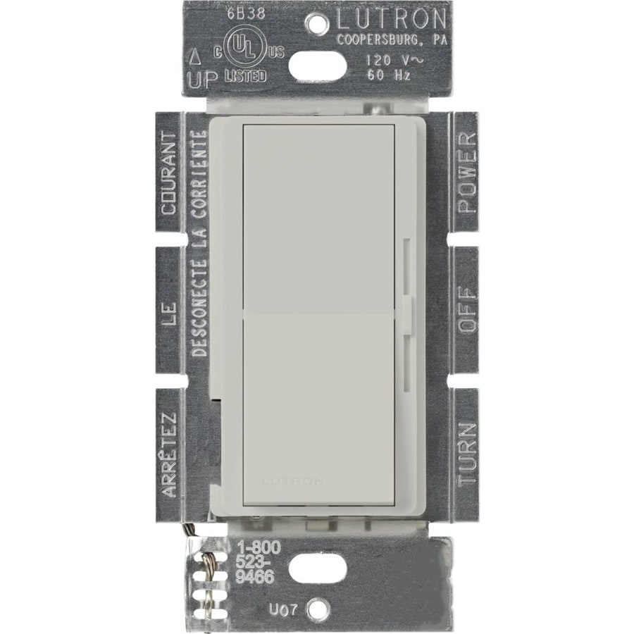 Lutron Diva 300-Watt Single Pole 3-Way Palladium Indoor Dimmer