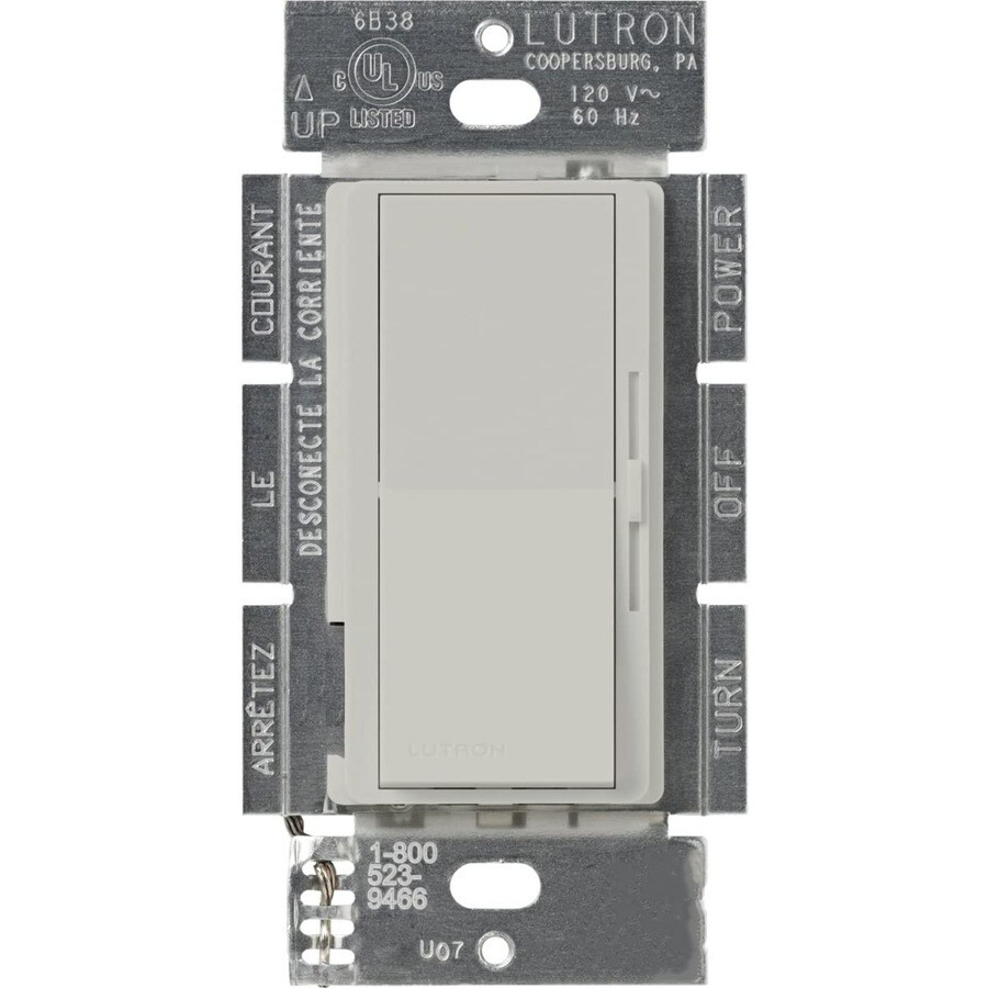 Lutron Diva 450-Watt Single Pole Palladium Indoor Dimmer