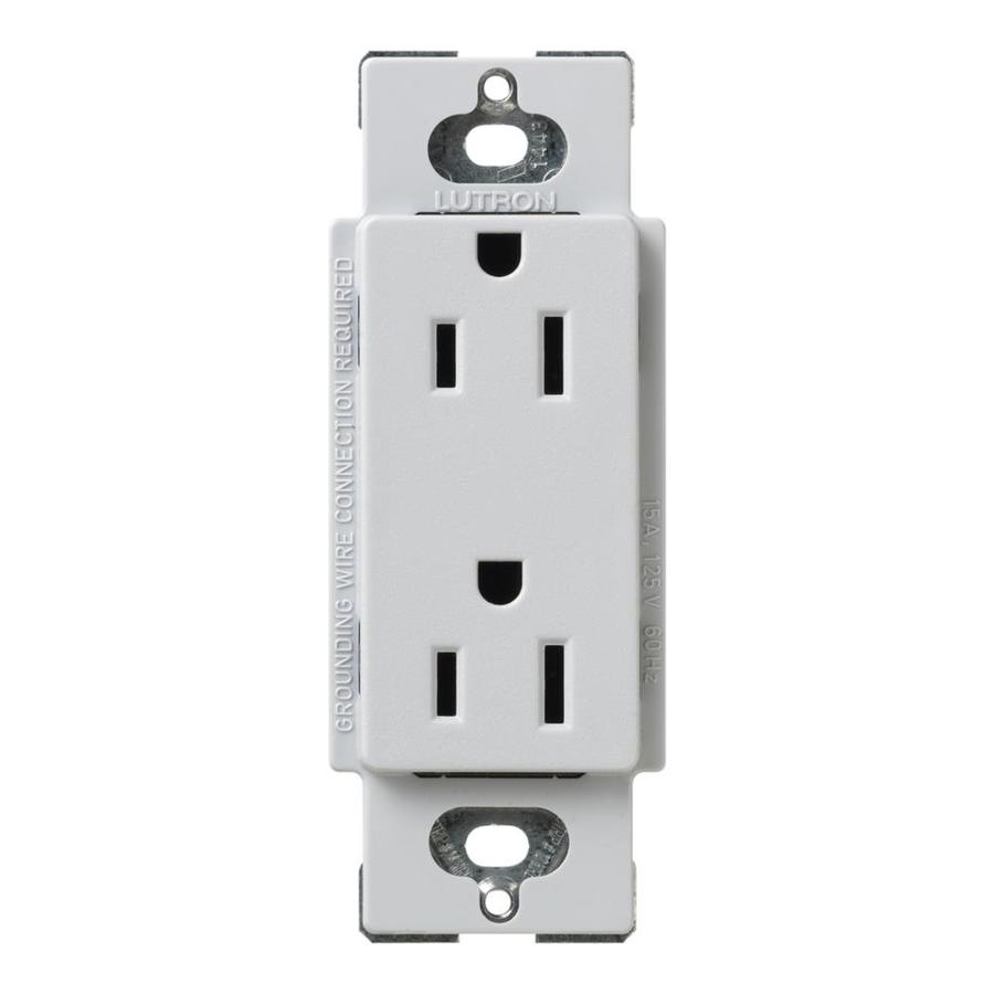Lutron Claro 15-Amp 120/125-Volt Palladium Indoor Decorator Wall Outlet