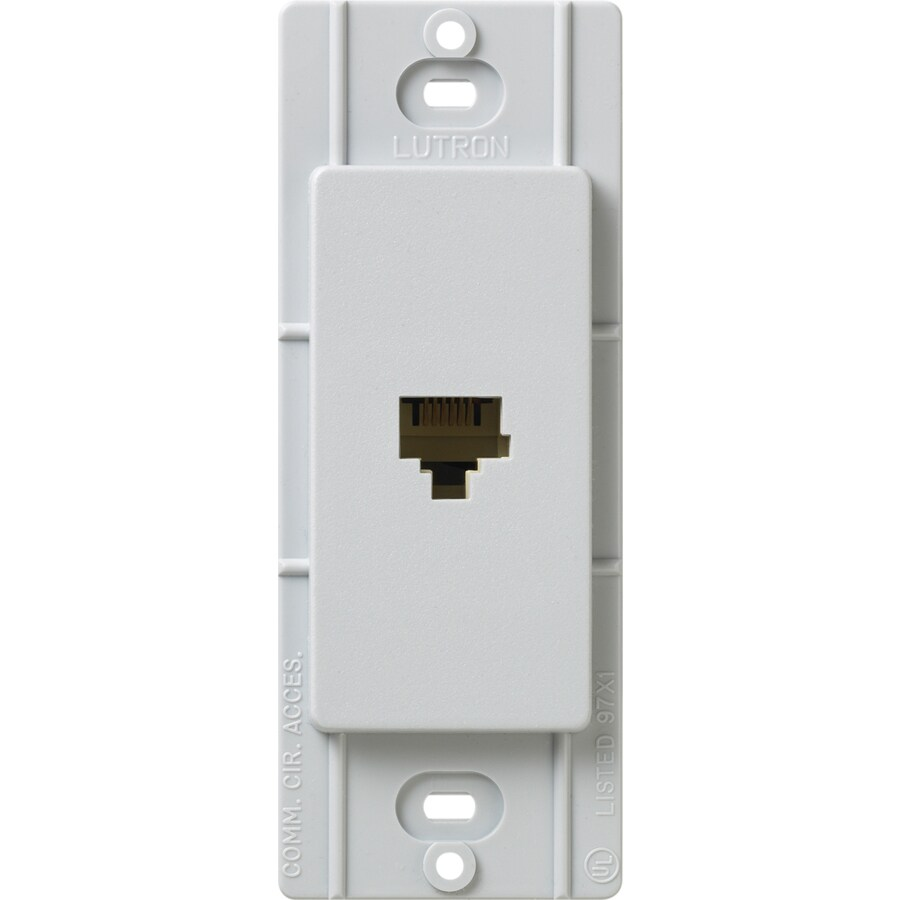 Lutron Claro Satin Color 1-Gang Palladium Phone Wall Plate