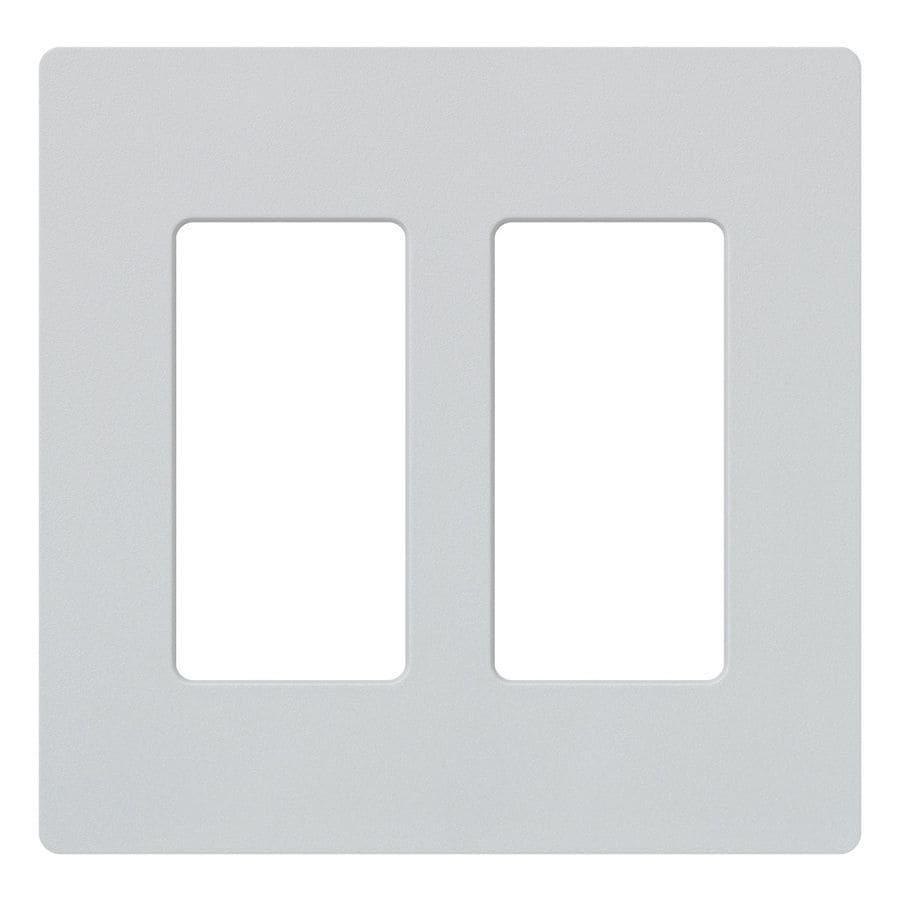Lutron Claro 2-Gang Palladium Double Decorator Wall Plate