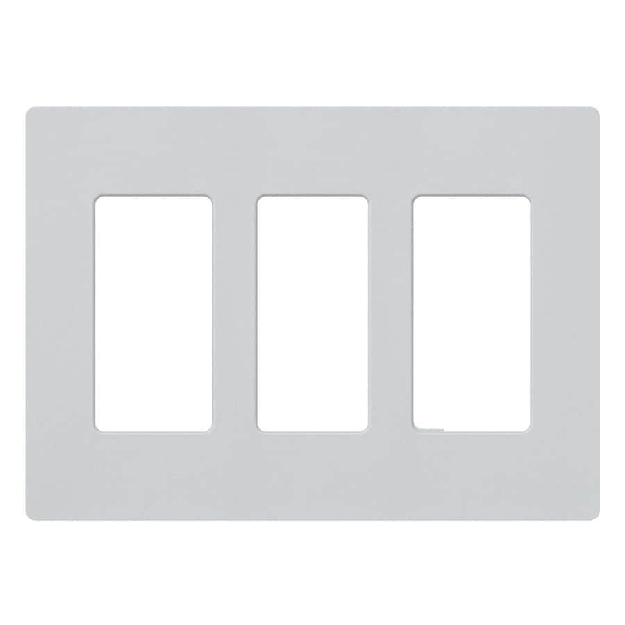 Lutron Claro 3-Gang Palladium Triple Decorator Wall Plate
