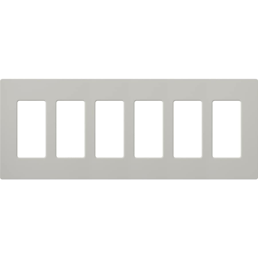 Lutron Claro 6-Gang Palladium Six Decorator Wall Plate