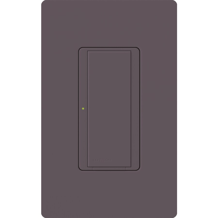 Lutron Maestro 8-Amp Single Pole 3-Way Plum Push Indoor Light Switch