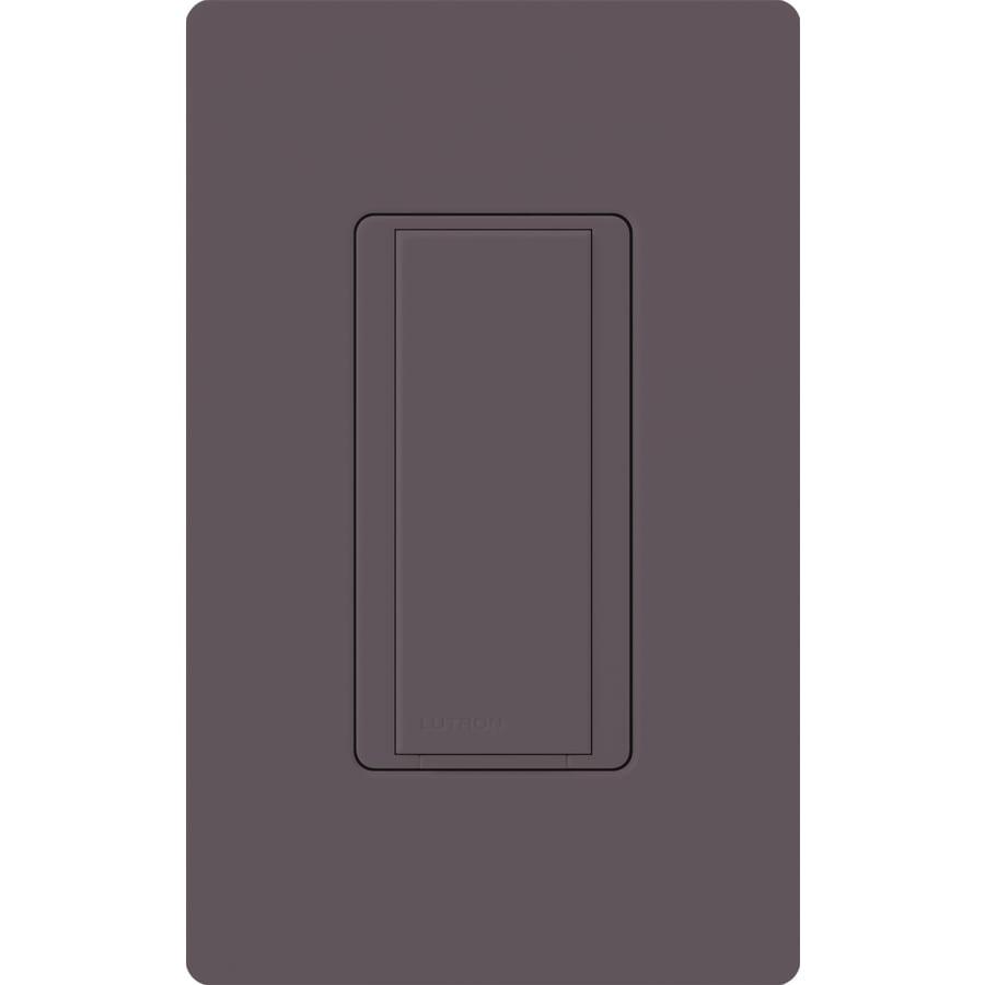 Lutron Maestro 8-Amp Single Pole Plum Indoor Push Light Switch
