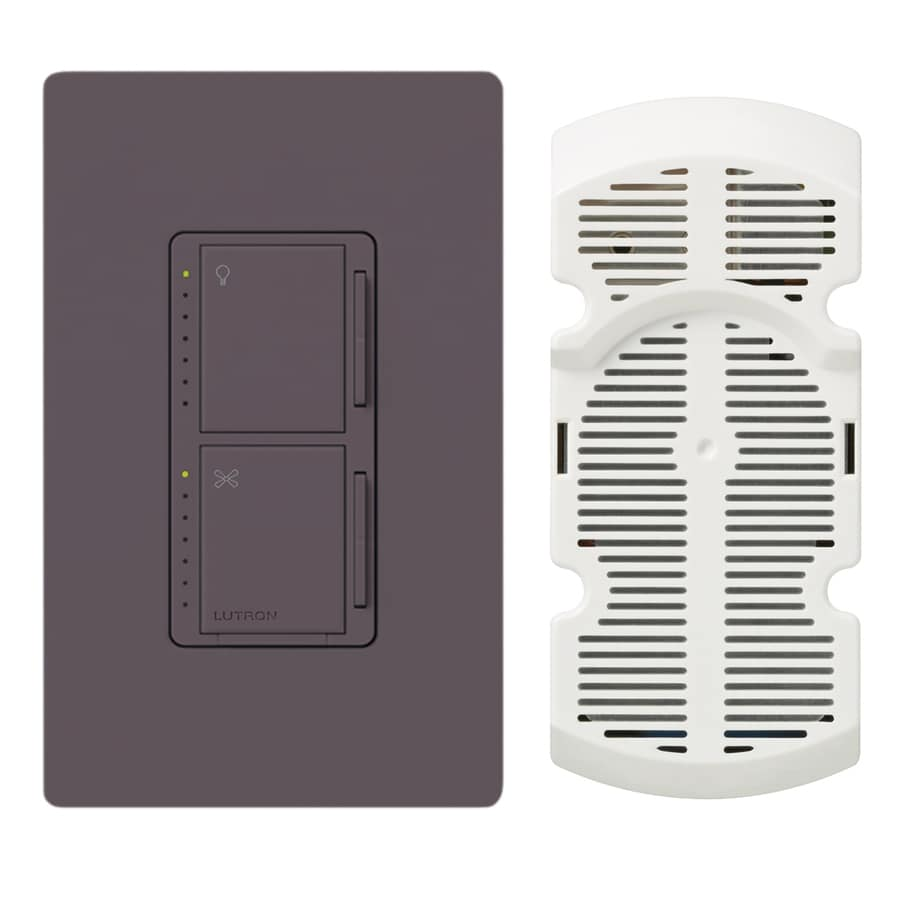 Lutron Maestro 300-Watt Single Pole 3-Way Plum Indoor Touch Combination Dimmer and Fan Control