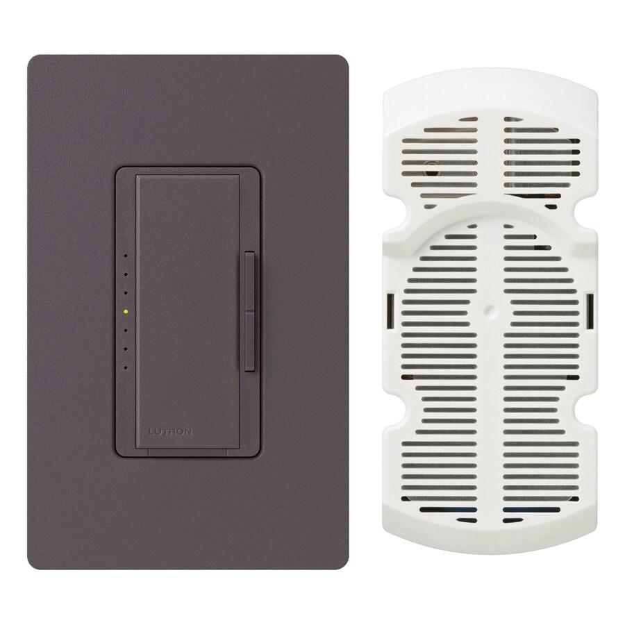 Lutron Maestro 7-Speed 1-Amp Plum Indoor Rocker Fan Control