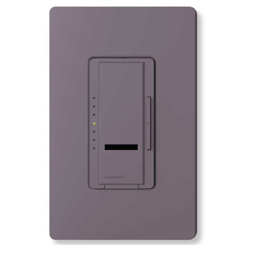 Lutron Maestro IR 800-Watt Single Pole Wireless Plum Indoor Remote Control Dimmer