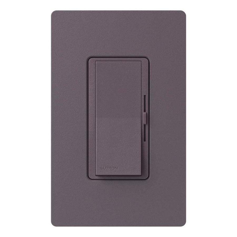 Lutron Diva 600-Watt Single Pole 3-Way Plum Indoor Dimmer