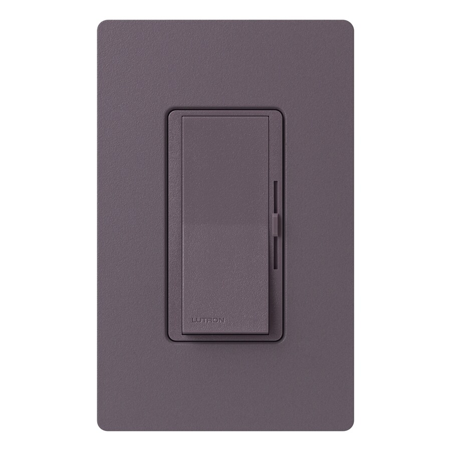Lutron Diva 1,000-Watt Single Pole 3-Way Plum Indoor Dimmer