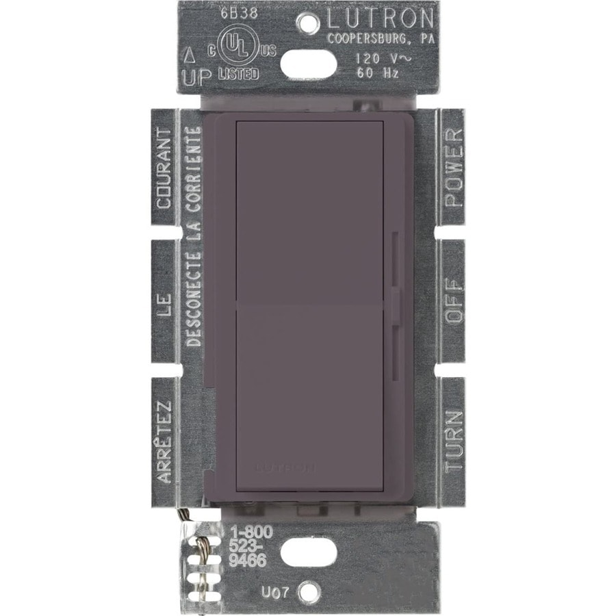 Lutron Diva 300-watt Single Pole 3-way Plum Indoor Dimmer