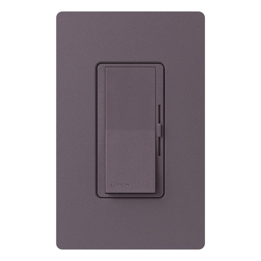 Lutron Diva 800-Watt Single Pole 3-Way Plum Indoor Dimmer