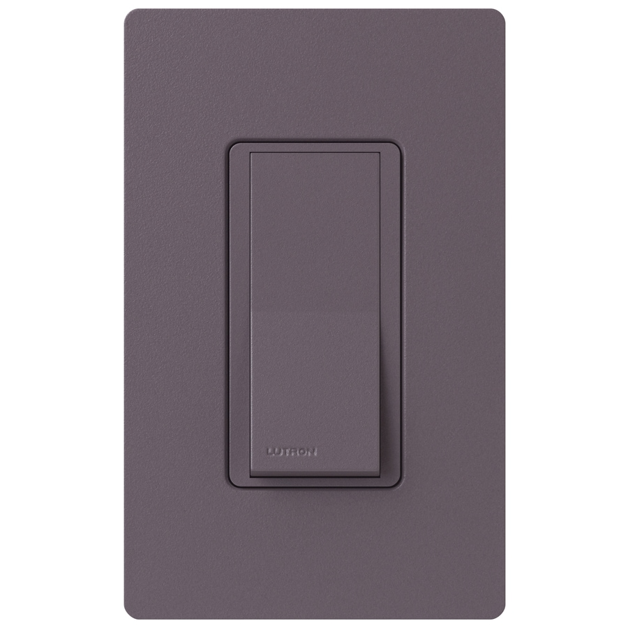 Lutron Claro 15-Amp 4-Way Plum Indoor Push Light Switch