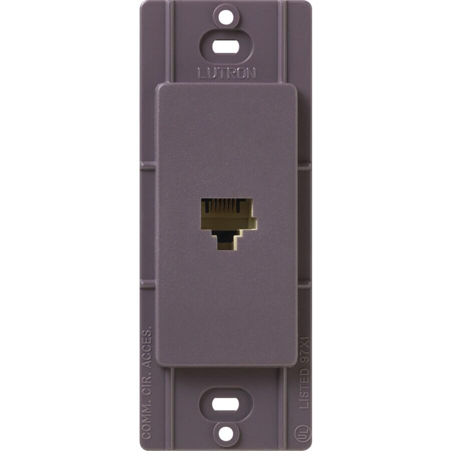 Lutron Claro Satin Color 1-Gang Plum Phone Wall Plate