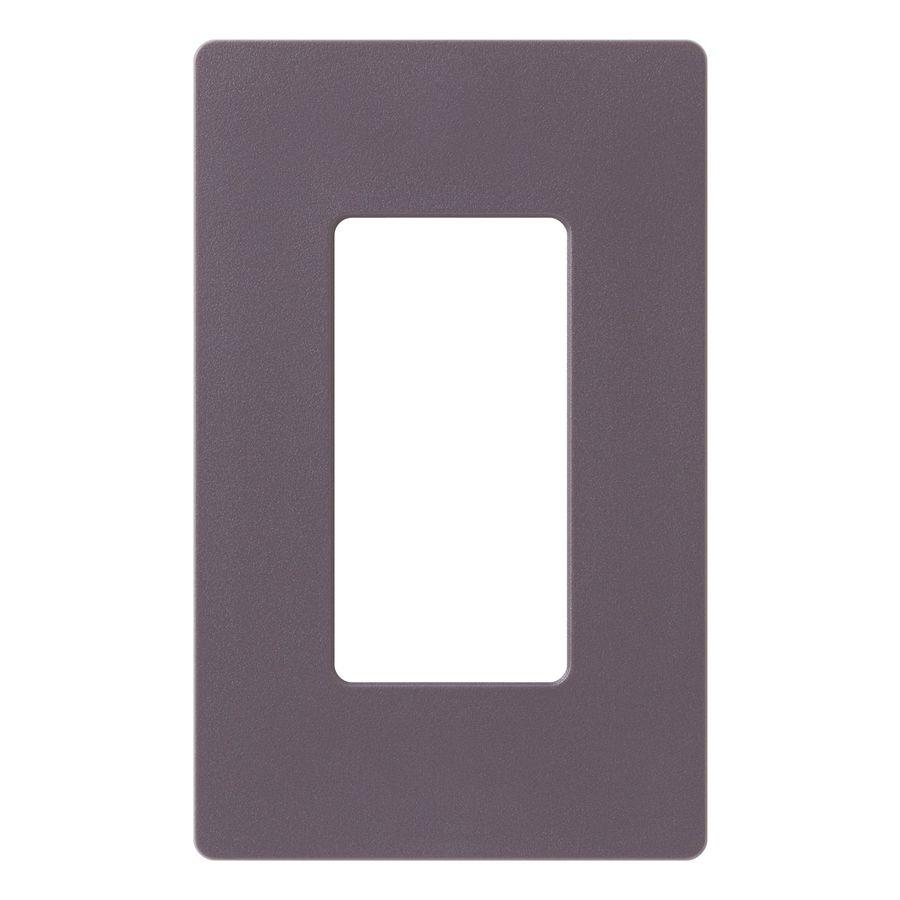 Lutron Claro 1-Gang Plum Single Decorator Wall Plate
